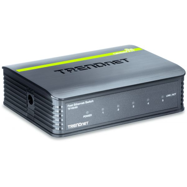 SWITCH TRENDNET FAST ETHERNET MINI TE100-S5 1GBIT/S 5 PUERTOS