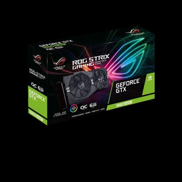 TARJETA DE VIDEO ASUS ROG STRIX GEFORCE GTX 1660 SUPER 6GB GDDR6