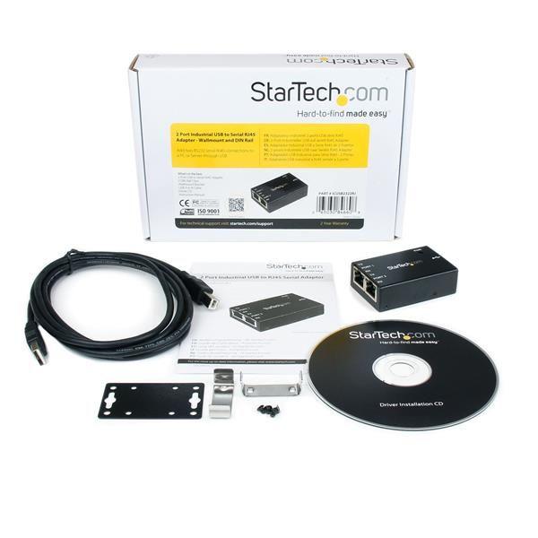 Adaptador 2 Ptos USB a Serial RJ45 Pared  STARTECH ICUSB2322RJ
