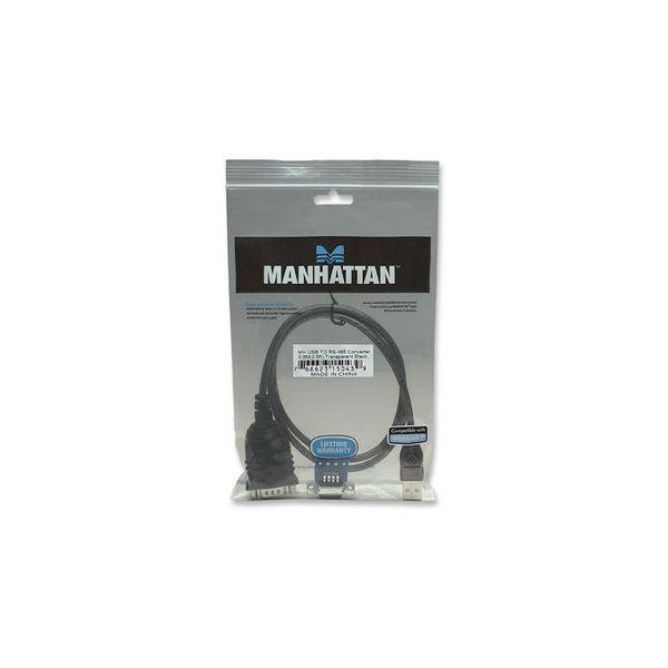 CABLE ADAPTADOR MANHATTAN USB A RS485 0.80M 150439