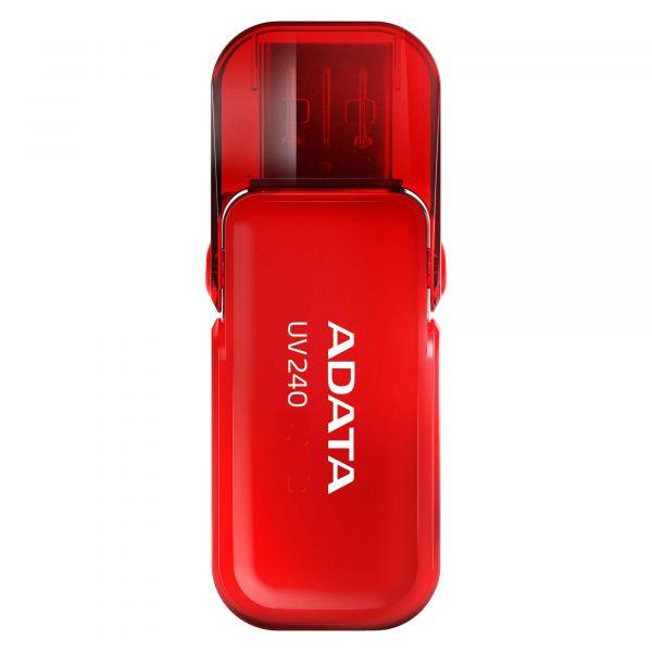 MEMORIA USB 2.0 DE 8GB ADATA UV240 ROJO 8 GB USB 2.0 AUV240-8G-RRD