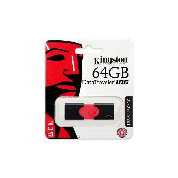 MEMORIA USB FLASH KINGSTON 64 GB (DT106/64GB)