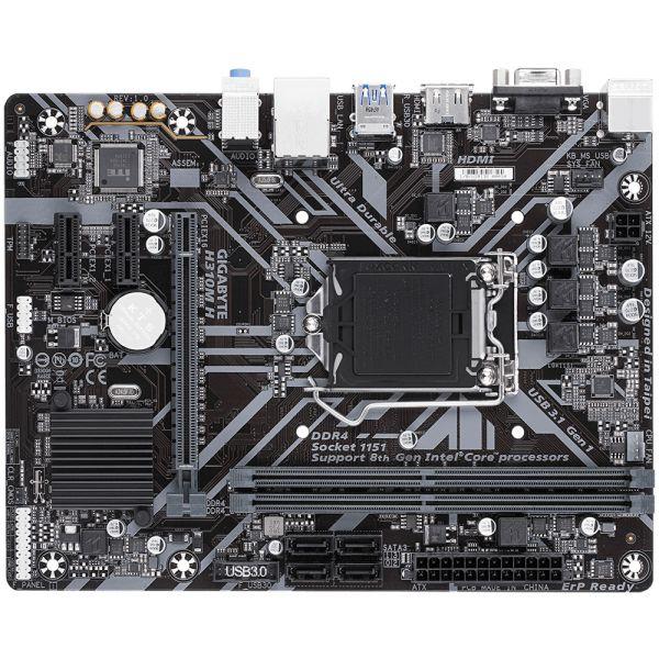TARJETA MADRE GIGABYTE H310M H MICRO ATX S-1151 INTEL 2xDDR4 USB 3.1
