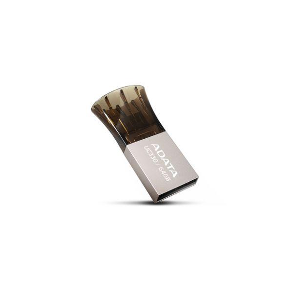 MEMORIA FLASH ADATA 64GB COLOR NEGRO USB 2.0-MICRO-USB(AUC330-64G-RBK)