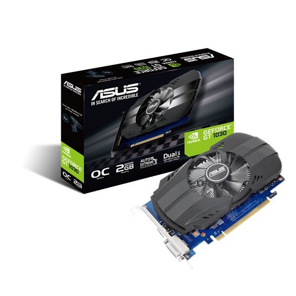 TARJETA DE VIDEO ASUS PH-GT1030-O2G 2GB GDDR5 DVI/HDMI 64BIT CAJA