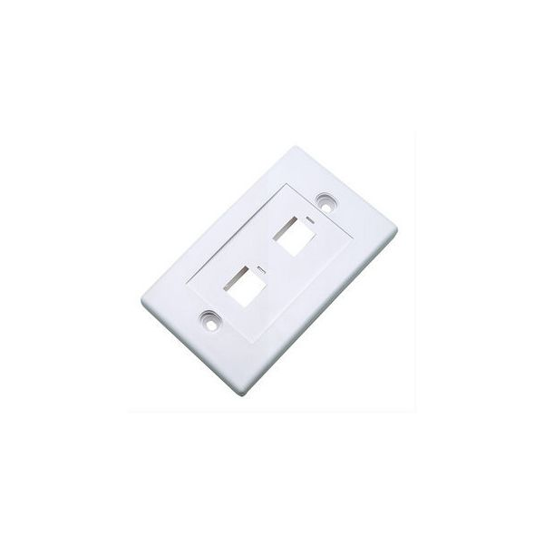 TAPA (FACEPLATE) 2 PERFORACION BLANCO 163293