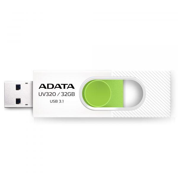 MEMORIA FLASH ADATA UV320 32GB USB3.1 VERDE/BLANCO AUV320-32G-RWHGN