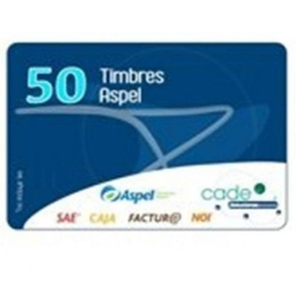 TIMBRES FISCALES ASPEL, SAE, INCLUYE 50 TIMBRES