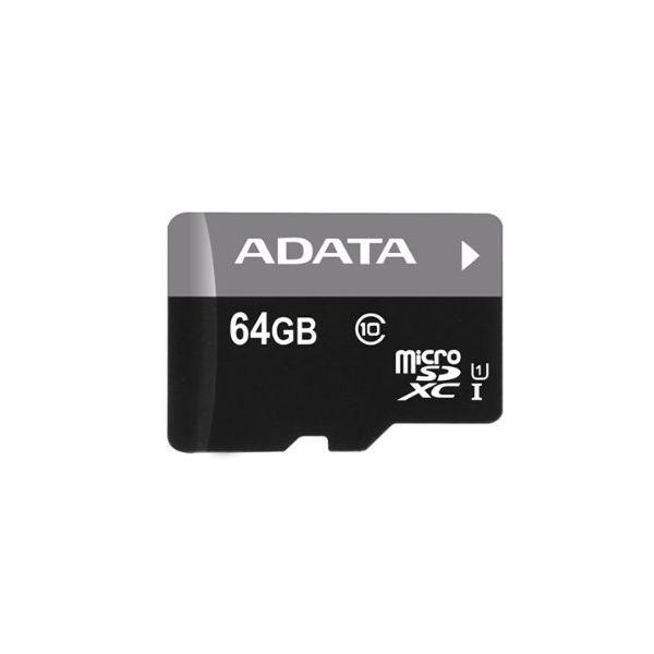 MEMORIA MICRO SDHC ADATA 64 GB  C/ADAPTADOR CL10 (AUSDX64GUICL10-RA1)