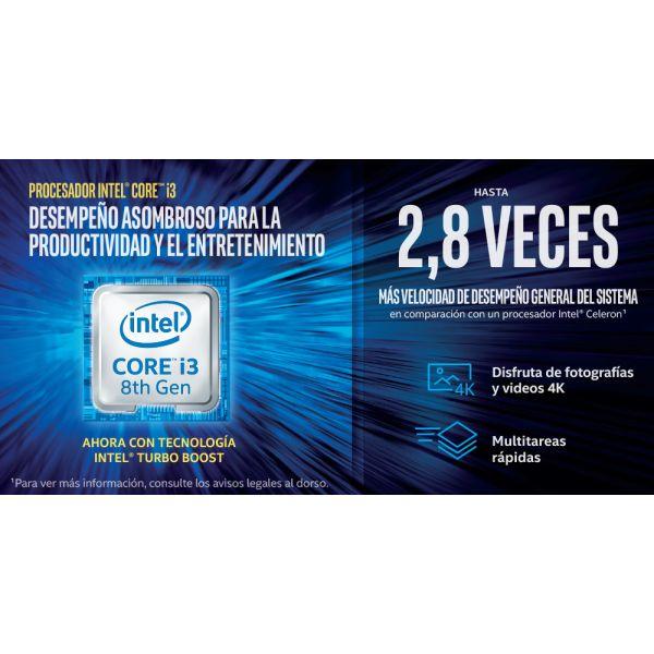 COMPUTADORA AIO LENOVO CORE I3 8100 8GB 1TB W10 PRO 10UL005MLS