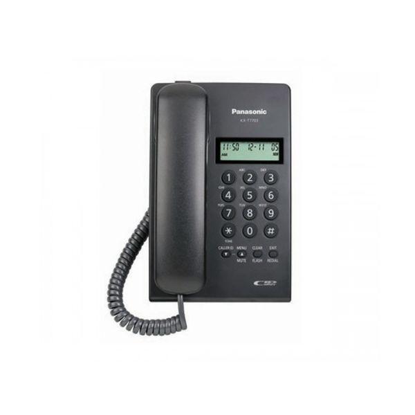 TELEFONO ANALOGICO PANASONIC ANALOGICA ESCRITORIO/PARED NEGRO