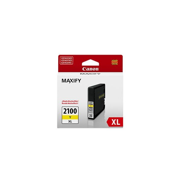 CARTUCHO CANON PGI-2100 Y XL AMARILLO 19.3ML P/ MB5310 (9282B001AA)