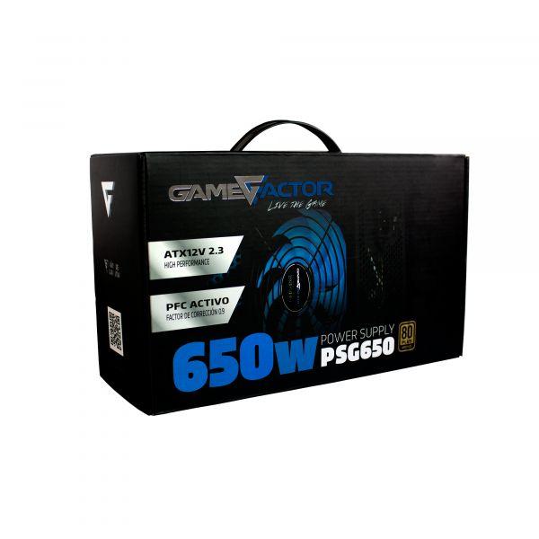 FUENTE DE PODER  GAME FACTOR PSG650  650WATTS 80 PLUS BRONZE