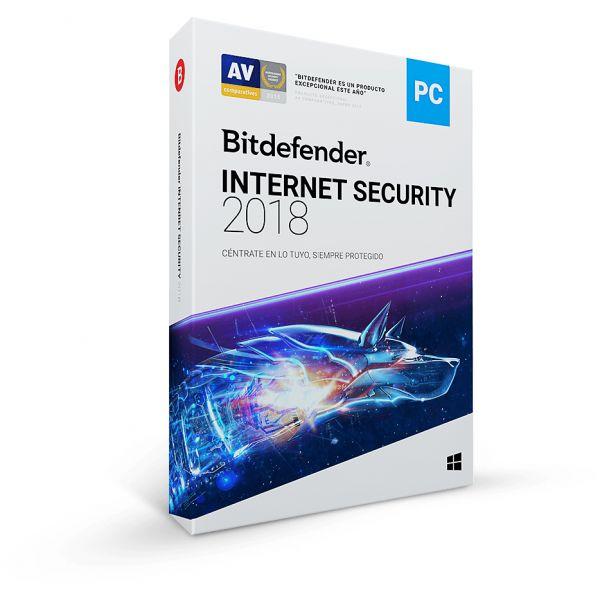 INTERNET SECURITY BITDEFENDER 2018 1AÑO 10 USUARIOS (TMBD-408)