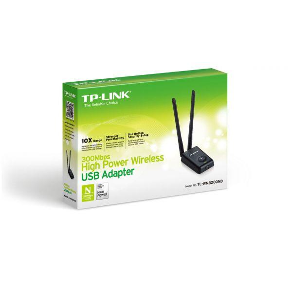 TARJETA DE RED INALAMBRICA USB N300 TPLINK TL-WN8200ND - ROMPE MUROS