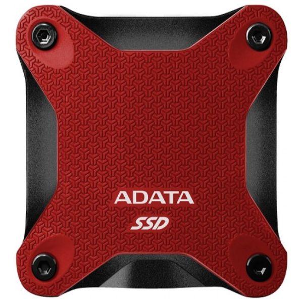 SSD EXTERNO ADATA 240GB USB 3.1 440 MB/S ROJO ASD600Q-240GU31-CRD