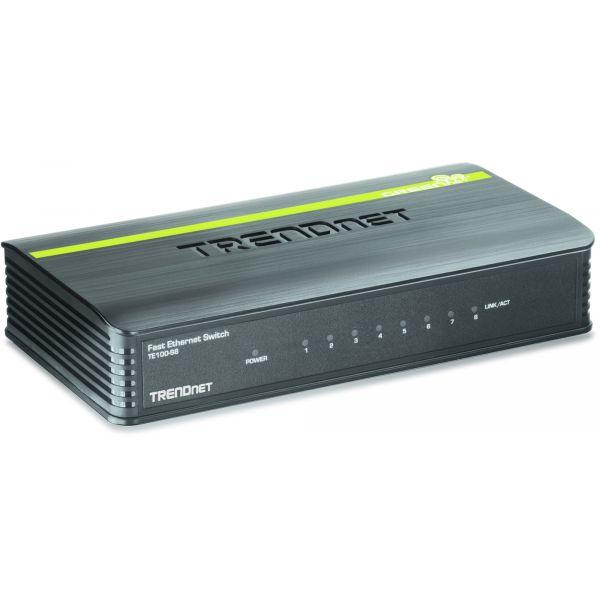 SWITCH TRENDNET FAST ETHERNET MINI TE100-S8 1.6GBIT/S 8 PUERTOS