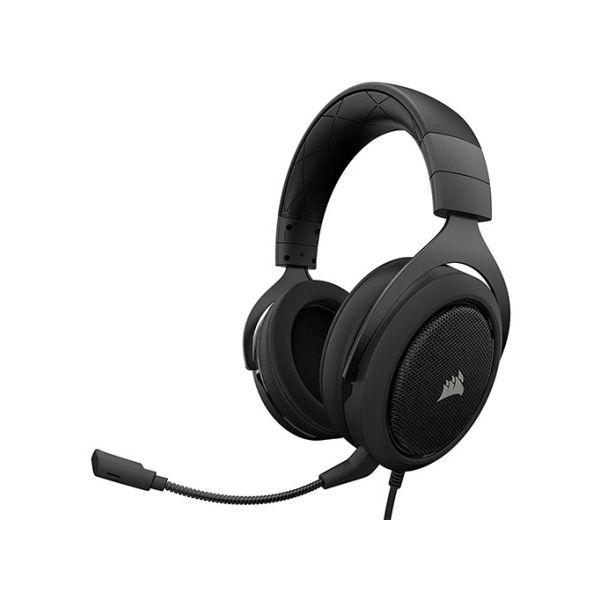 DIADEMA GAMER CORSAIR HS50 STEREO BLACK 3.5 MM CA-9011170-NA