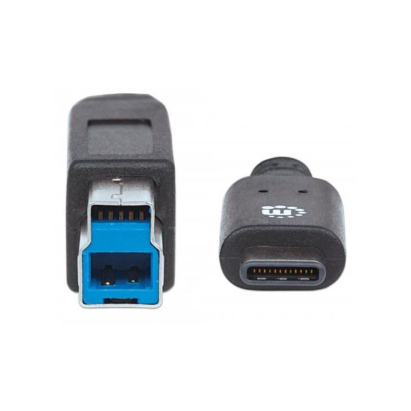 CABLE USB MANHATTAN TIPO C - B MACHO 1.0 MTS NEGRO V3.1 GEN2 353380