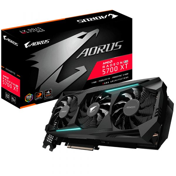 TARJETA DE VIDEO GIGABYTE GV-R57XTAORUS-8GD GDDR6 256B PCIE HDMI/DP