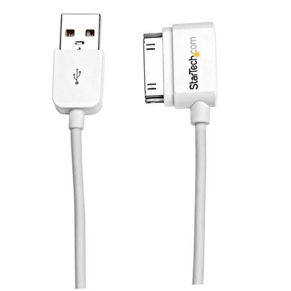 Cable 50cm  Dock 30Pin  Angulo Izq a USB  STARTECH USB2ADC50CML