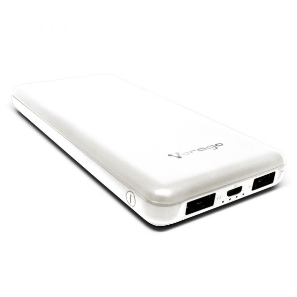 POWER BANK VORAGO PB-401 10,000 MAH 2x USB BLANCO