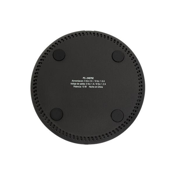 CARGADOR INALAMBRICO PERFECT CHOICE NEGRO, 10 V PC-240792