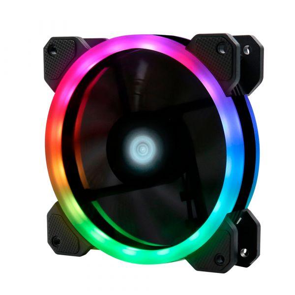 VENTILADOR GAME FACTOR FG400 PARA FKG400 120MM RGB DUAL RING 5 PINES