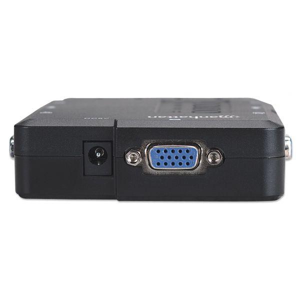 MUX KVM MINI USB 4:1 MANHATTAN CON CABLES + AUDIO 151269