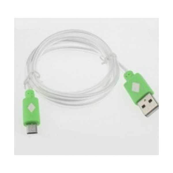 CABLE MICRO USB LEVYDAL VERDE LED 81042