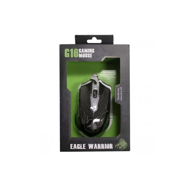 MOUSE OPTICO GAMING EAGLE WARRIOR G16 DPI: 800-1200-1600-2400