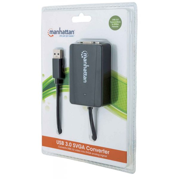 CABLE ADAPTADOR MANHATTAN USB 3.0 A SVGA 1080P 152303