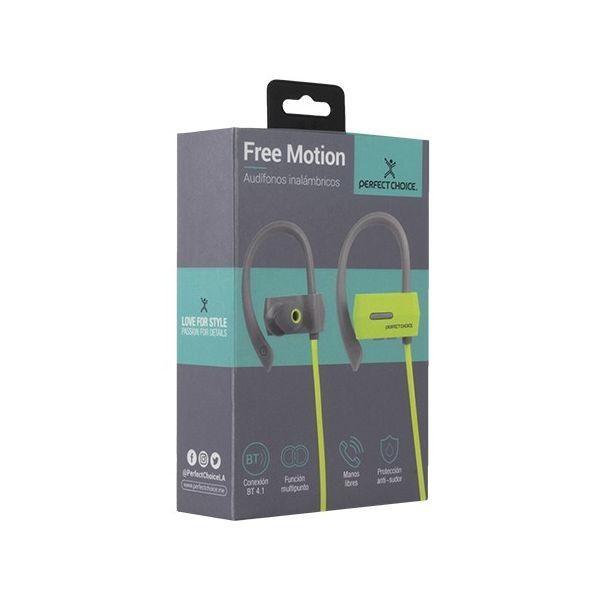 AUDIFONOS INALAMBRICOS PERFECT CHOICE PC-116660 VERDE BLUETOOTH