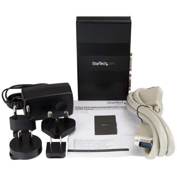 Extensor  Video VGA 4PTOS Cat5 UTP RJ45 Serie UTPE  STARTECH ST124UTPE