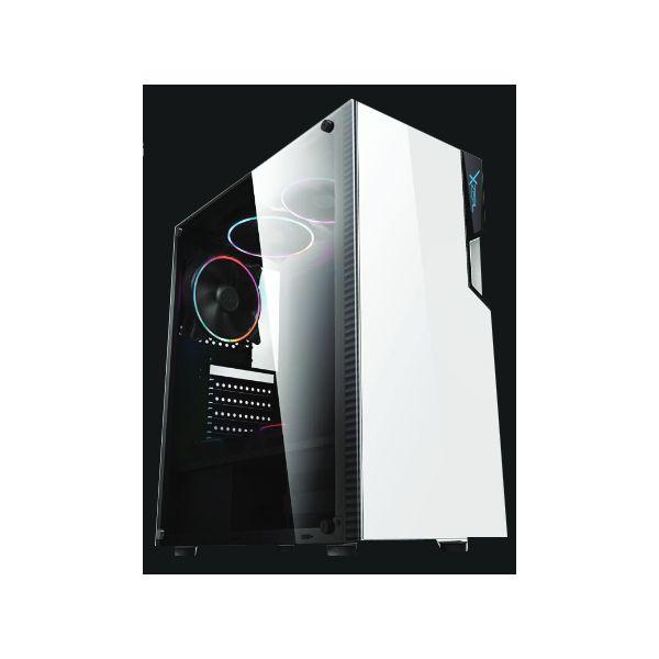 GABINETE GAMER XZEAL XZ130 BLANCO ATX INLCUYE 3 VENTILADORES XZCGB06W