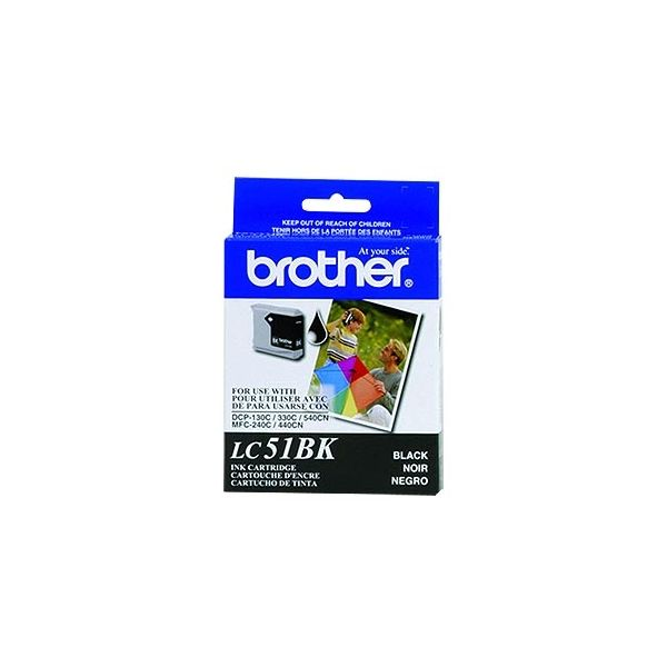 CARTUCHO DE TINTA BROTHER LC51BK NEGRO