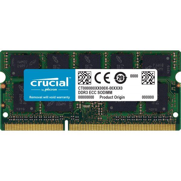 MEMORIA CRUCIAL PC3-12800 8GB DDR3 1600MHZ 204-PIN SODIMM CT8G3S160BM