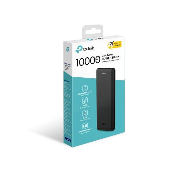 POWERBANK TPLINK TL-PB10000 10,000MAH 2x USB NEGRO