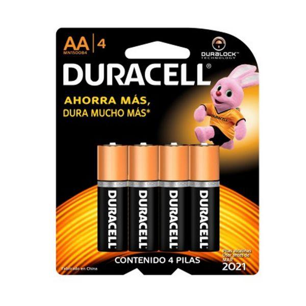 PILAS ALCALINAS DURACELL 80281571 DURALOCK POWER PRESERVE 4 PIEZAS