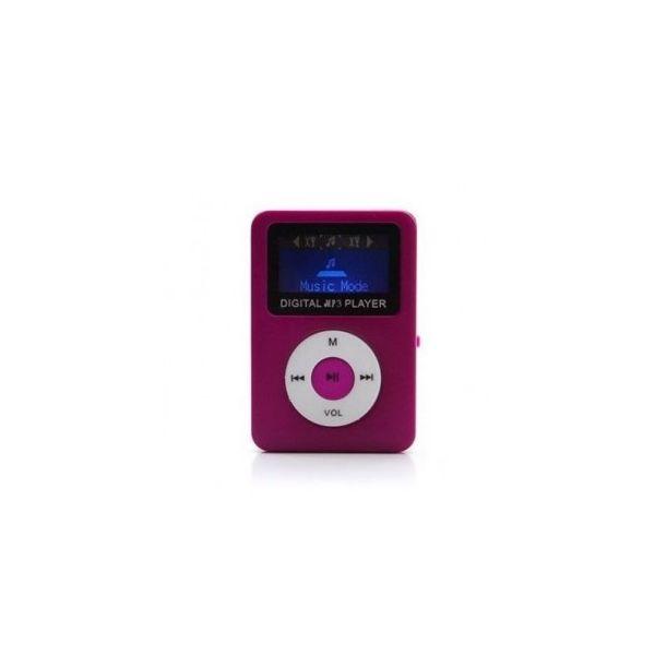 REPRODUCTOR MP3 C/PANTALLA Y BOCINA BROBOTIX 093070 ROSA MICROSD