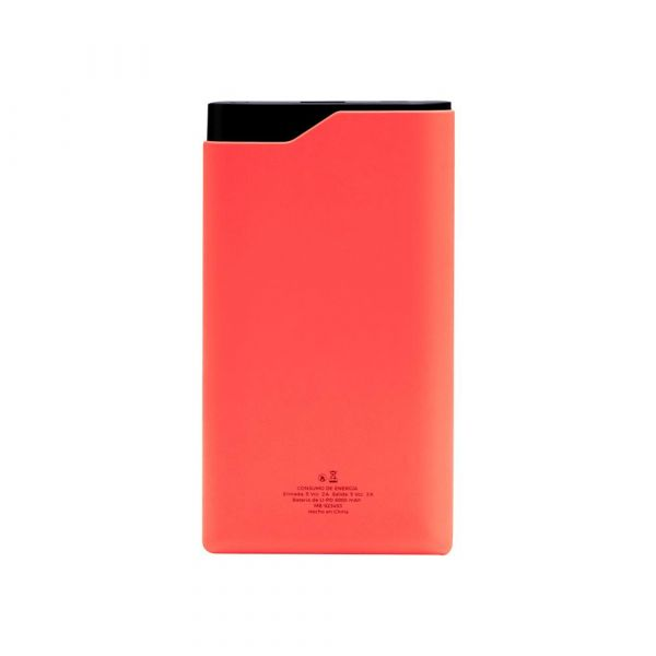 POWER BANK MOBIFREE 6,000 MAH ROJO CON DISPLAY MB-923484