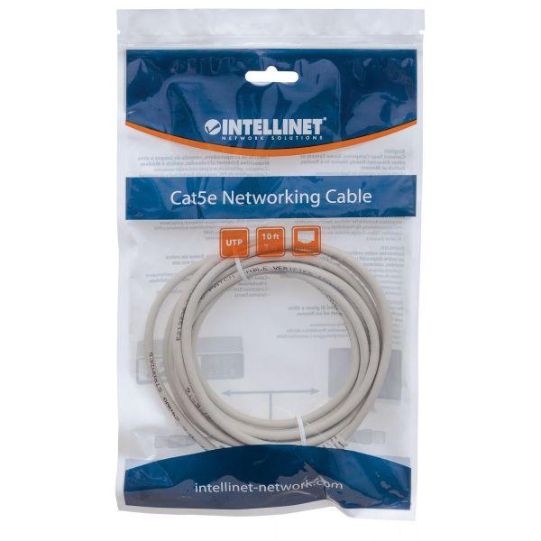 CABLE PATCH UTP CAT 5E INTELLINET 3.0 MTS (10.0F) GRIS 319768