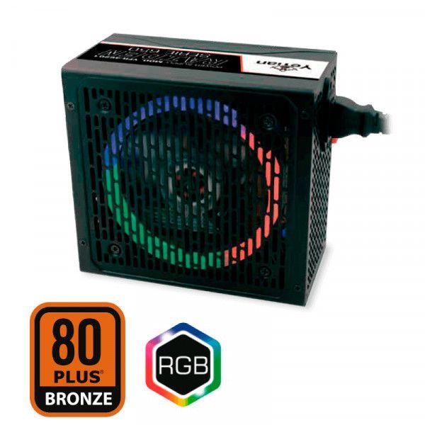 FUENTE DE PODER YEYIAN YFR-46201 RAIDEN 650W 80 PLUS BRONZE RGB ATX SM