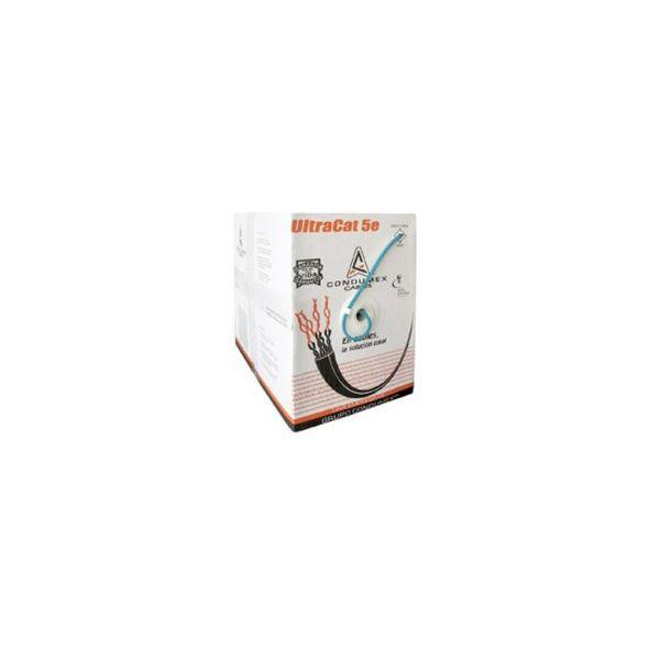 CABLE UTP CONDUMEX ULTRACAT 5E 4PAR 24AWG (CM) AZUL BOBINA 305M