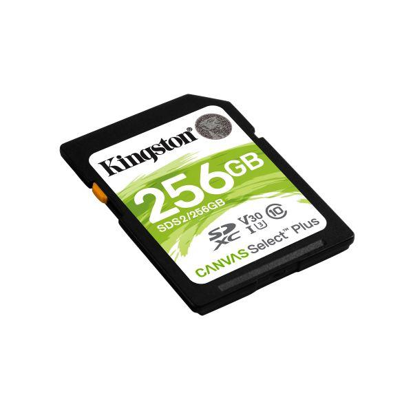 MEMORIA SD KINGSTON SDXC CANVAS SELECT 100R CL10 UHS-I V30 (SDS2/256GB