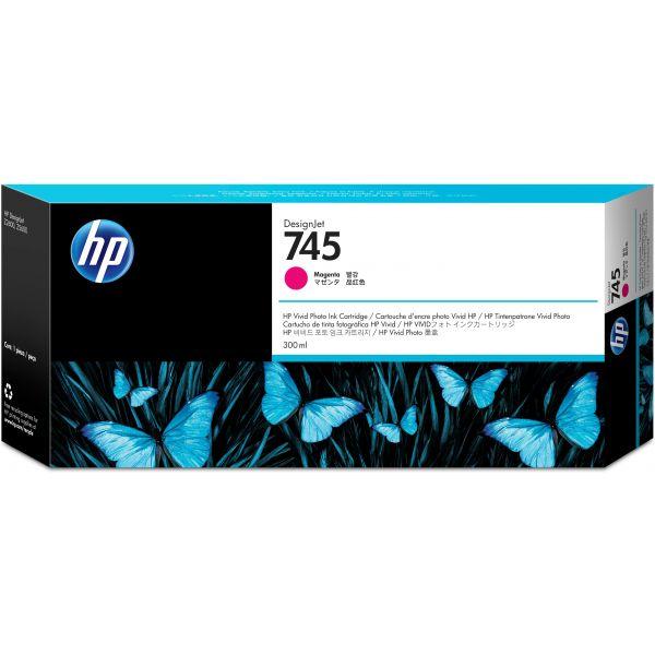 CARTUCHO HP 745 MAGENTA P/2600/5600 300ML F9K06A