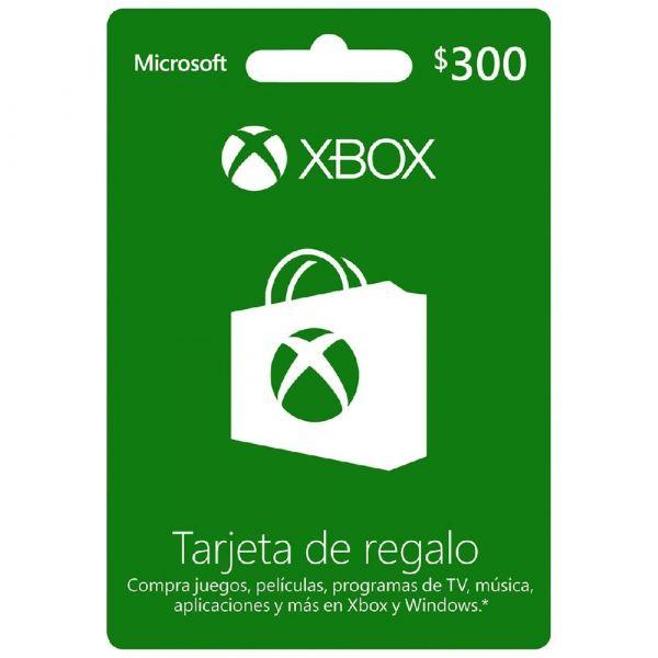 TARJETA DE REGALO MICROSOFT XBOX $300 MXN K4W-02025