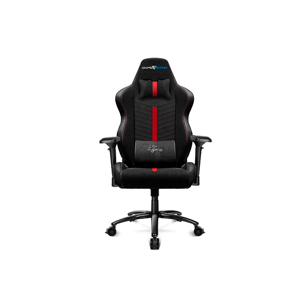 SILLA GAME FACTOR CGC601 XL, TELA, RECLINABLE, NEGRO/ROJO