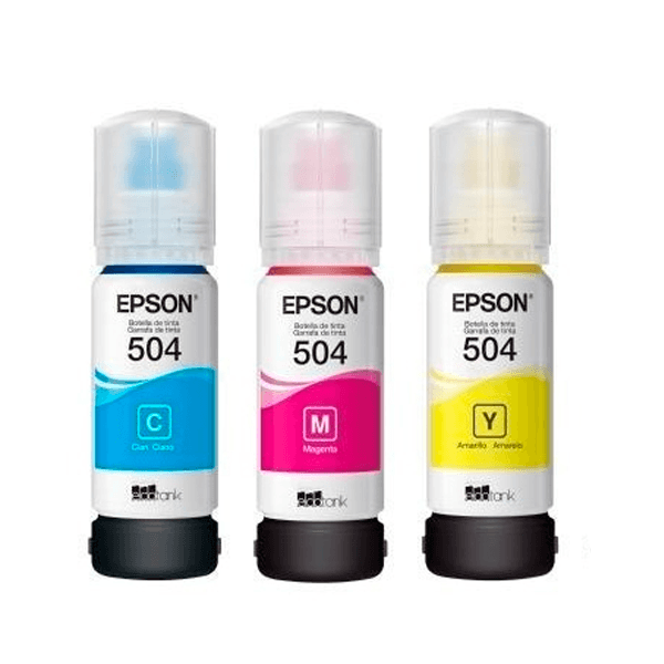KIT BOTELLAS DE TINTA EPSON T504 3 COLORES CMY