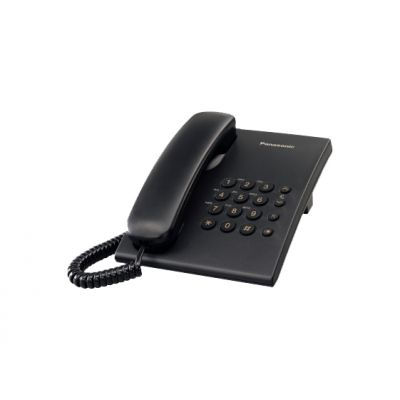 TELÉFONO ANALÓGICO PANASONIC KX-TS500MEB ESCRITORIO/PARED, NEGRO
